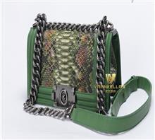vrankellas 蟒蛇皮 斜挎小方包