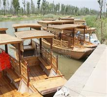 纯手工制造木船 高低蓬观光船