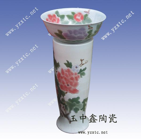 【手绘青花瓷台盆 陶瓷台盆厂家】价格
