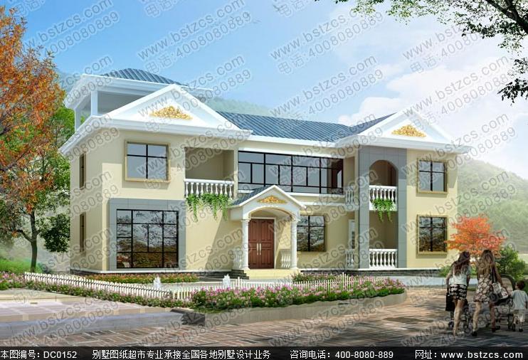 新农村自建房二层平顶设计图