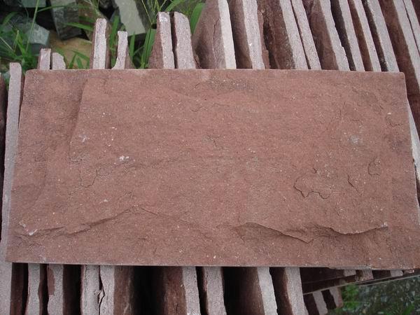 外墙文化石牡丹红蘑菇石图片