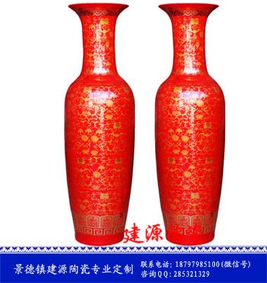 景德镇墨彩1.8米花瓶 酒店装饰摆件大花瓶定做