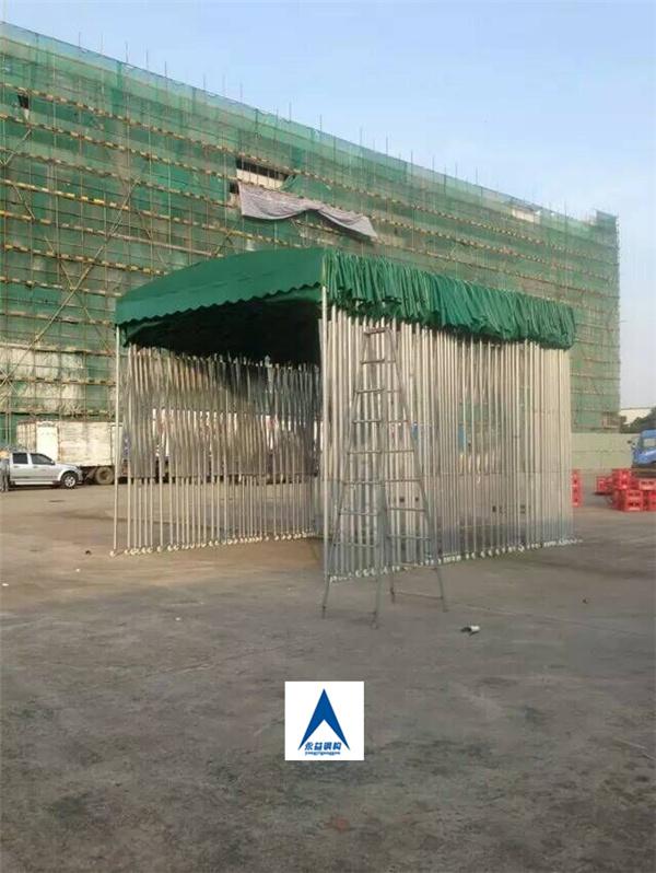 伸缩雨棚结构图