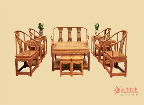 精湛工艺#红木永华拐扶手沙发