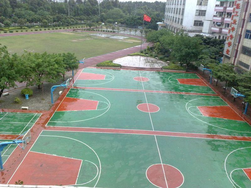 硅pu篮球场施工,硅pu篮球场建设