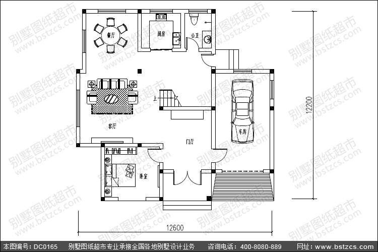 【别墅设计图纸_大气的三层复式客厅欧式别墅设计