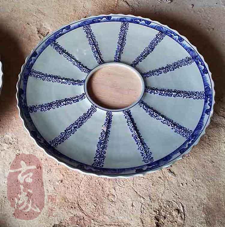 陶瓷海鲜大咖盘火锅分格拼盘