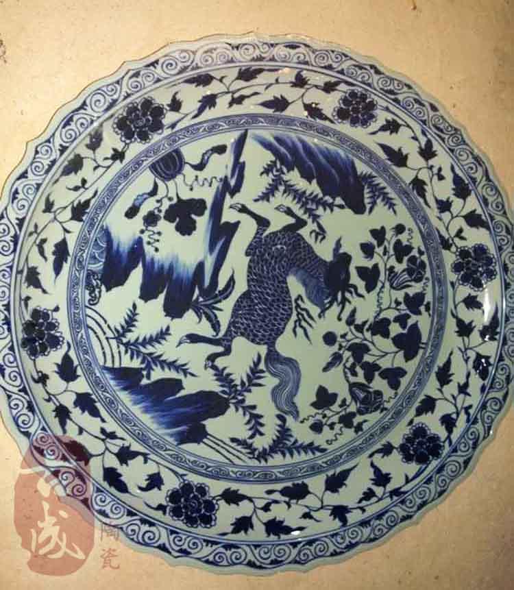 一米陶瓷海鲜大咖盘大鱼盘