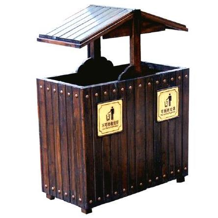 供兰州防腐木垃圾桶和甘肃垃圾桶批发