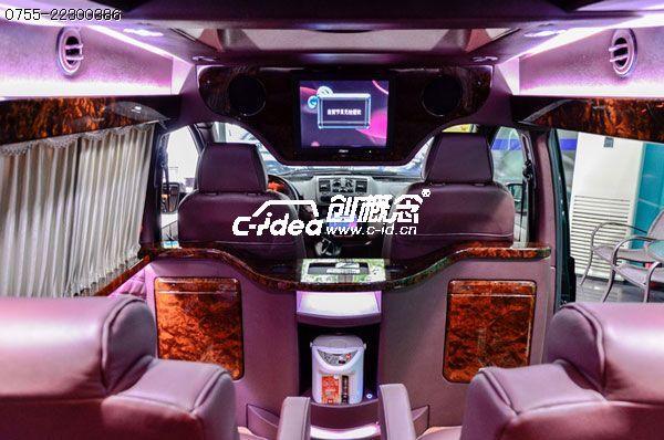 中山奔驰威霆车内饰改装、加装氛围灯光、触