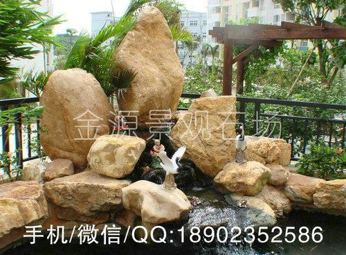 供应园林造景黄蜡石,可用于鱼池假山,水系驳岸溪流石