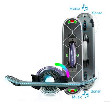 5,2pcs电池组 6,蓝牙音箱:双喇叭 7,led七彩跑马灯 8,陀螺仪平衡控制