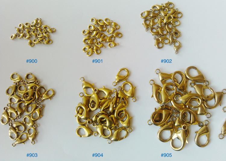 各种型号款式合金龙虾扣 饰品配件 饰品扣