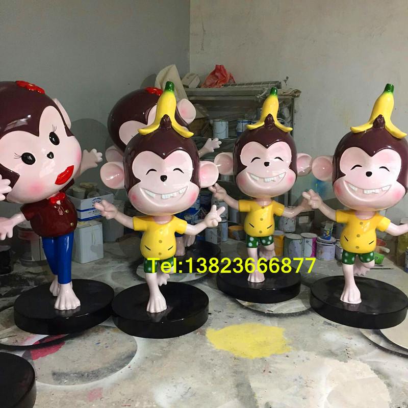 造型高档: 猴子卡通雕塑