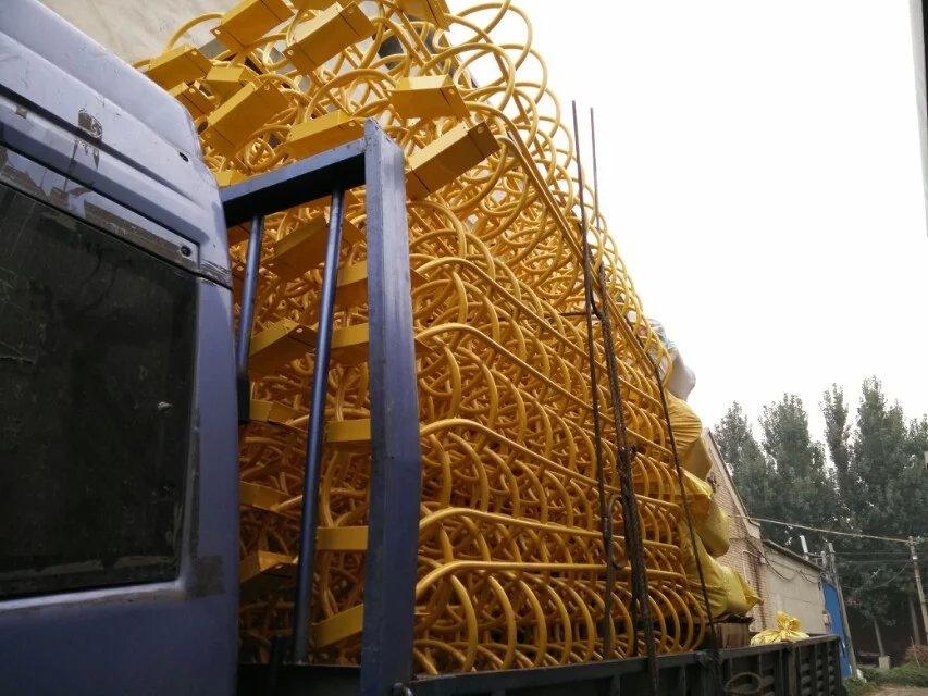 上海自行车停放架安装 螺旋式自行车停车架批发