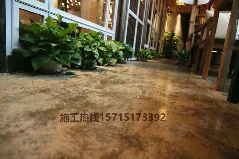 南京复古漆地坪,咖啡厅复古地坪漆,仿古地面复古漆施工