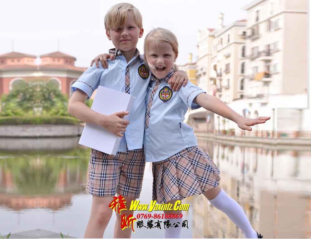 东莞制衣厂订做小学生校服石龙幼儿园服深圳学生装制服演出服套装