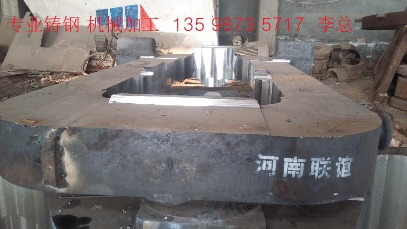 连云港超耐磨铸钢件轴承座 轧机牌坊价格厂家图片
