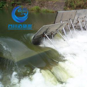 专利技术液压活动坝MC-FO59合页坝替代传统的翻板坝橡胶坝