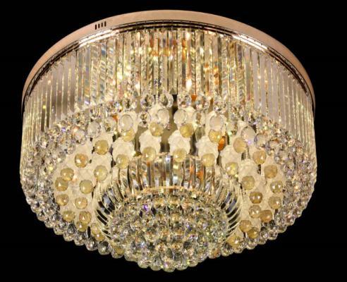 【简约欧式圆形吸顶灯个性led灯卧室客厅水晶灯】