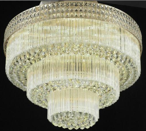 圆形水晶灯吸顶灯饰卧室大厅大气欧式现代灯