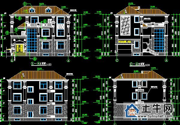 【简单三层带露台农村自建房设计图-农村房屋设计图