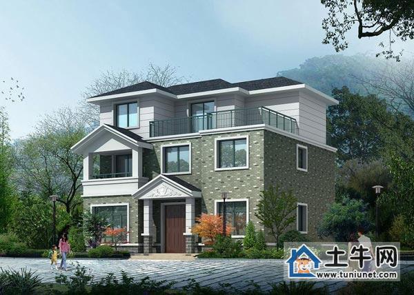 首页> 建筑安装 别墅改造 钢结构阁楼 >新农村实用三层带露台别墅设计