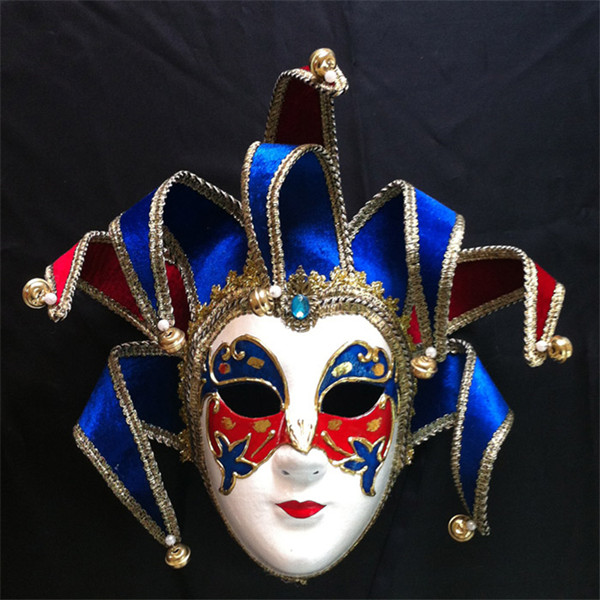 【深圳晖泰万圣节面具供应威尼斯风格全脸面具纸浆