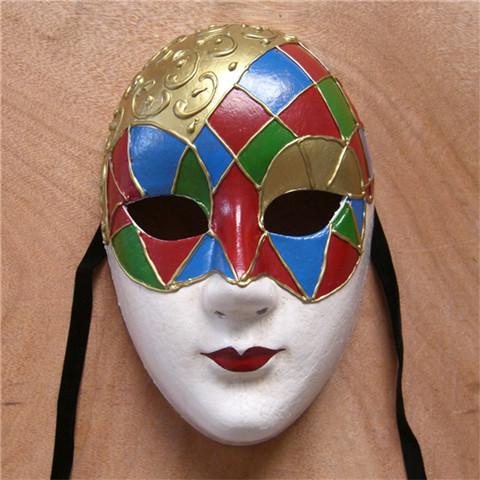 1(g) 品名 手绘立体纹饰/威尼斯风格圆脸/100%环保纸浆/乐谱/化妆舞会