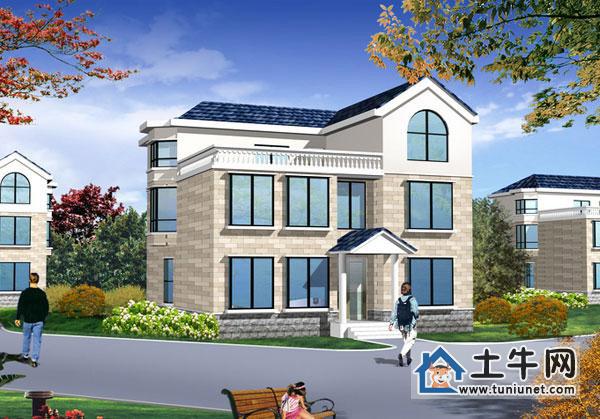 建筑安装 钢结构阁楼 三层大气旋转楼梯复式别墅设计图纸,别墅设计