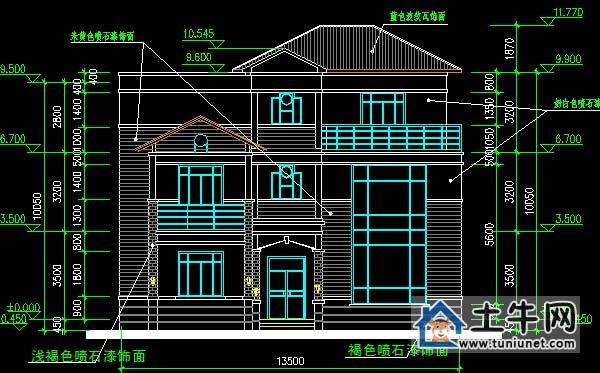 【二层半中式风格房屋设计图纸-中式别墅设计图纸