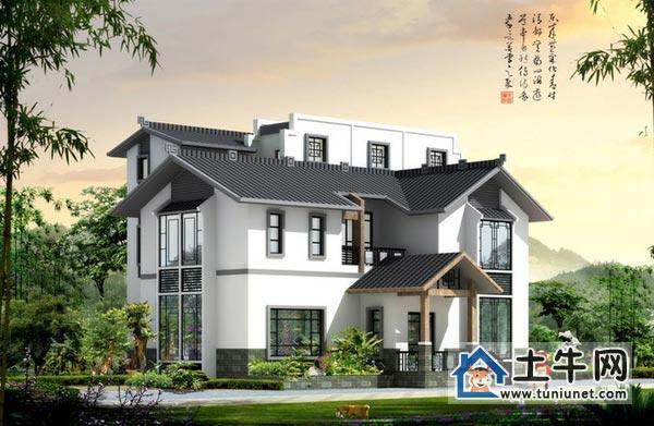 二层半中式风格房屋设计图纸-中式别墅设计图纸