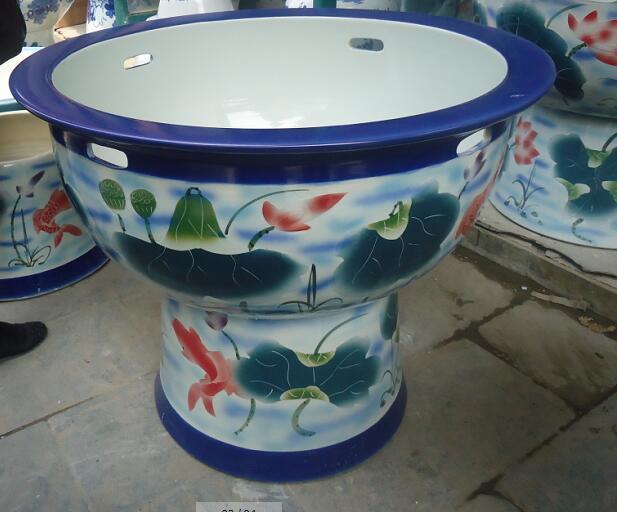 供应酒店装饰大缸风水摆设大缸九龙陶瓷缸陶