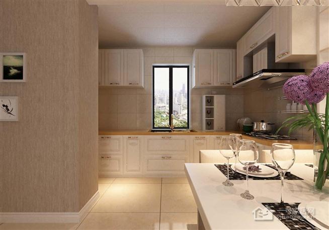 旭日上城两室两厅129平混搭装修案例—南
