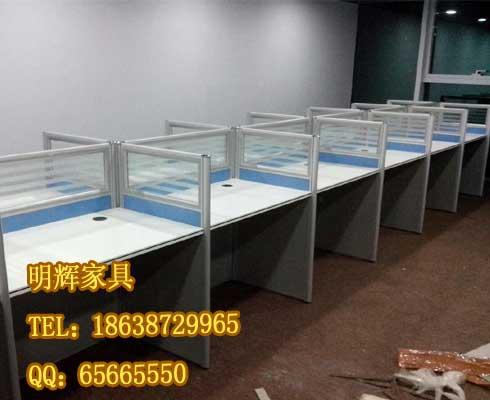 漯河带屏风的电脑桌价格_屏风卡座定做