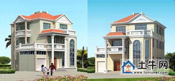 【经典三层带旋转楼梯别墅设计图纸-复式三层带车库