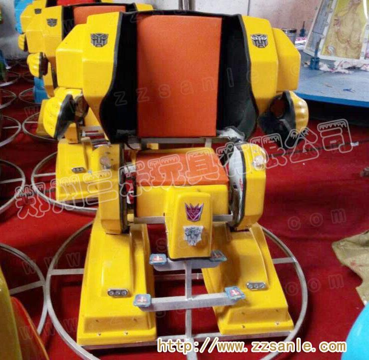 广场上电动行走机器人碰碰车三乐厂家报价