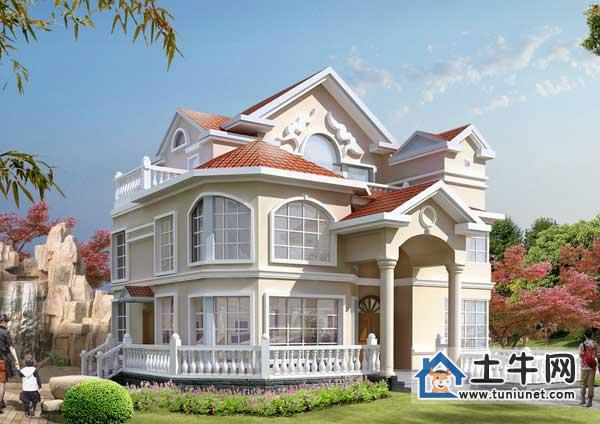 漂亮的三层欧式豪华别墅设计图纸-三层别墅设计,别墅设计图纸及效果图