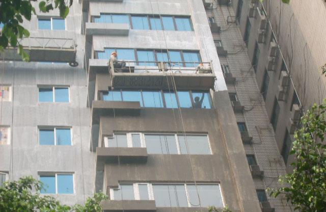 外墙清洗、吊物件上楼、外墙修补贴砖批荡油漆工程