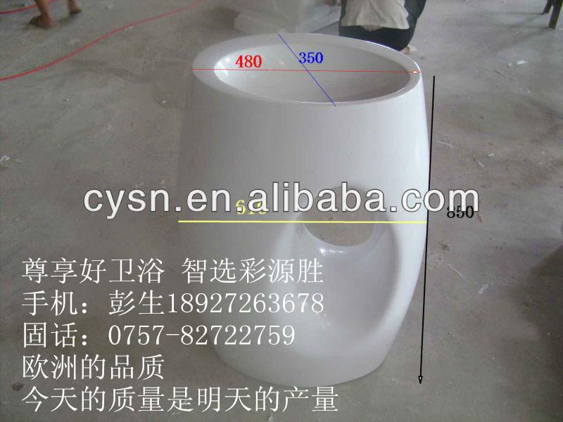 广东洁具立柱盆 优质柱体一体洗手盆面盆热