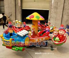 公园旋转小动物机械玩具
