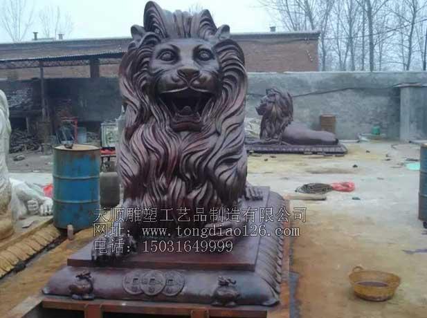 铜雕汇丰狮|故宫铜狮子|铜雕塑工艺品|铜