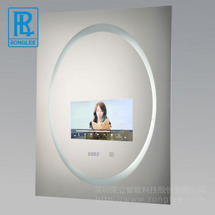 荣立智能触摸镜子镜面防水电视机