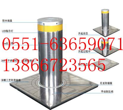六安升降柱安装 自动升降路障桩 半自动升降路障柱