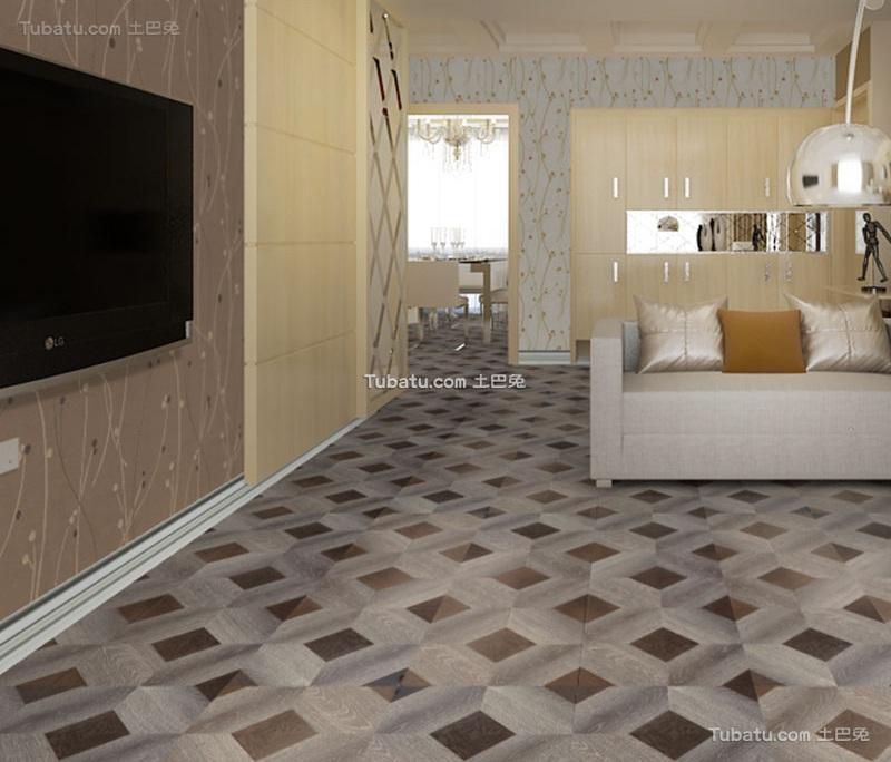 【木地板厂家直销欧式复古拼花复合地板】价格