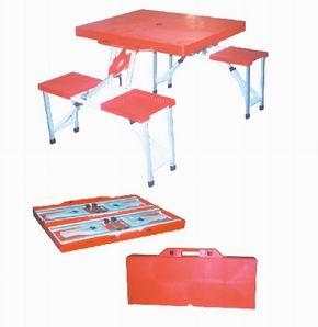 便携桌椅折叠桌椅连体桌椅洽谈桌