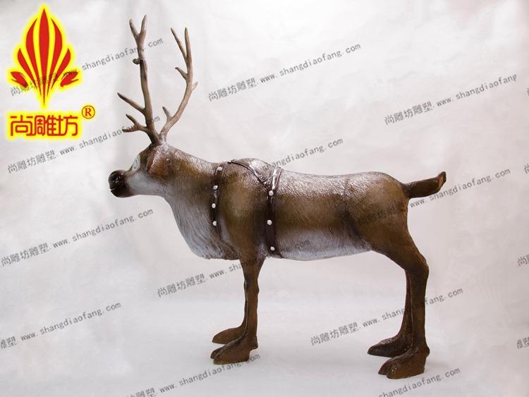 冰雪奇缘麋鹿动物雕塑功能活动展览仿真动物雕塑供应