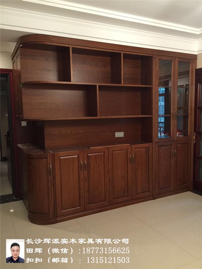 长沙原木家具定制、湖南原木玄关柜、房门订做辉派家具