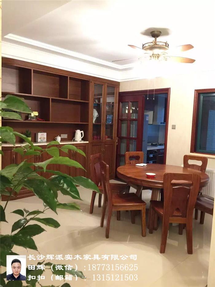 湖南实木家具厂、长沙实木餐边柜、橱柜订制真材实料