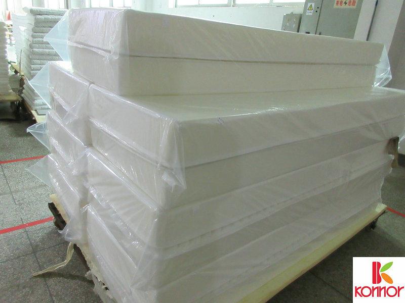 康莱慢回弹记忆海绵床垫生产出口代工供应量大从优